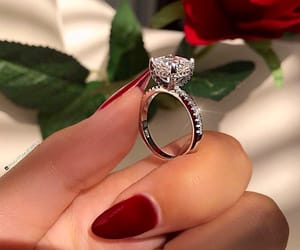 diamond, diamond ring, and elegant image