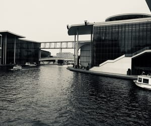berlin, river, and white image