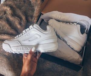 Fila, white, and fashion image