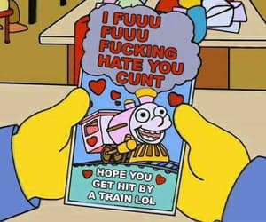 the simpsons, simpsons, and valentine image