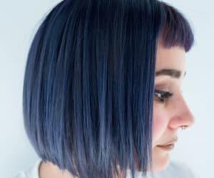 blue hair, haircut, and color hair image