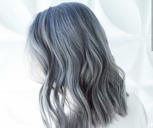 color hair, gray hair, and haircut image