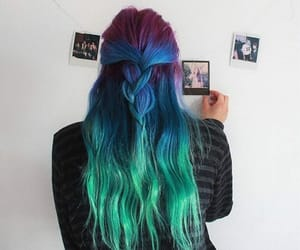 braids, wavy, and color hair image