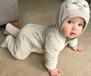 baby, costumes, and rabbit image