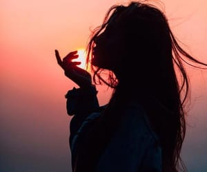 girl, photography, and sunset image
