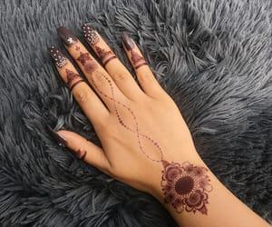 arabic, beautiful, and henna image