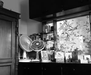 b&w, black, and room image
