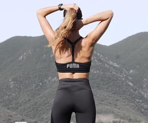 fit, girl, and gym image