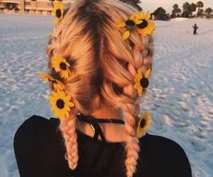 hair, flowers, and tumblr image