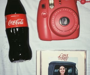 camera, cherry, and coca cola image
