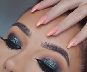 beauty, eyebrow, and smokey eye image