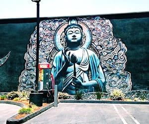 Buddha, california, and mural image