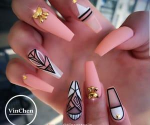 nail polish, nails, and nailart image