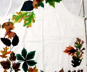 apron, autumn, and painting image