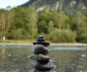 nature, stones, and river image
