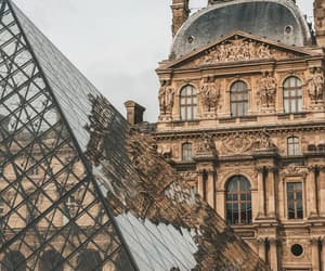 architecture, city, and louvre image