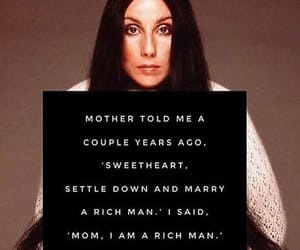 quotes, woman, and cher image
