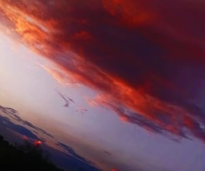 dark, red, and sky image