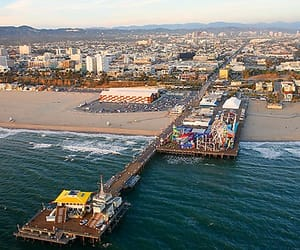 amusement park, santa monica pier, and california image