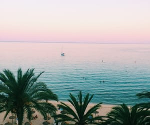 holidays, ocean, and palm trees image