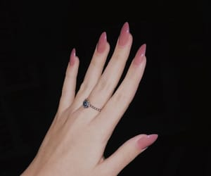 nails and pink nails image