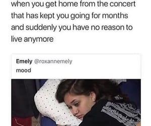 concert, home, and sad image