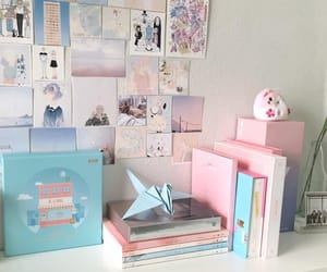 aesthetic, desk, and kpop image