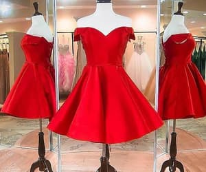 red dress and short prom dress image