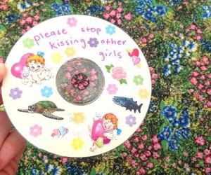 cd, flowers, and bambi image