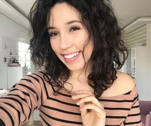 blogger, brunnette, and curly hair image