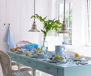 blue, decor, and home image