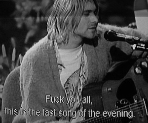 kurt, live, and cobain image