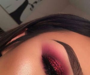 eyeshadow, makeup, and glitter image
