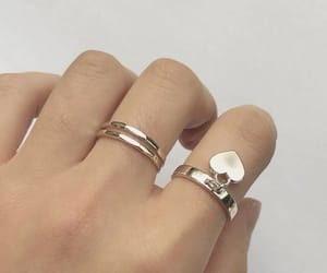 aesthetic, hand, and jewelry image