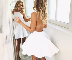 party dress, short dress, and little white dress image