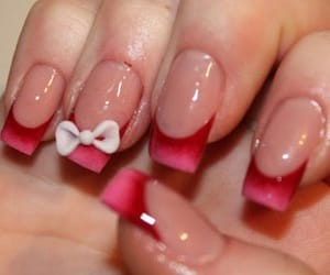 acrylics, bow, and nails image