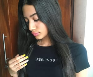 black, eyebrows, and long image