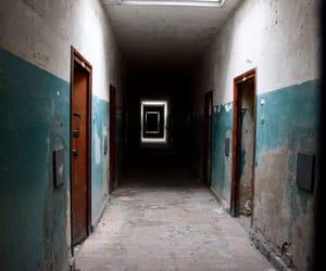 apocalypse, corridor, and dark image