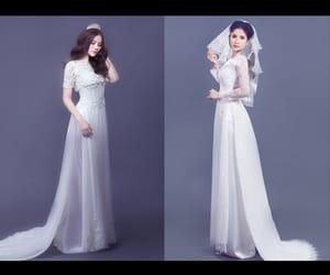 vietnamese, wedding dress, and ao dai image