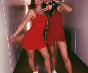 beauty, best friends, and dress image