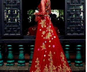 red, red dress, and ao dai image