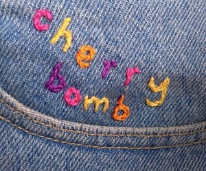 jeans, cherry bomb, and aesthetic image