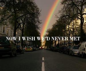 Lyrics, pretty, and rainbow image