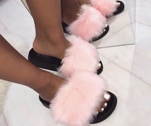 shoes, pink, and slides image