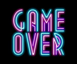 neon, game, and game over image