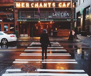city, cafe, and street image