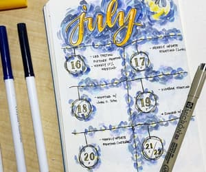 college, journaling, and july image