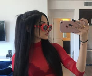 girl, red, and maggie lindemann image