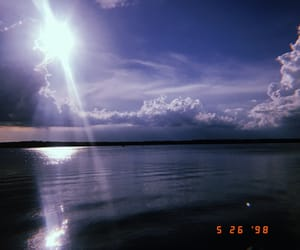 blue, lake, and old image