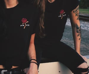 girls, outfit, and tattoo image